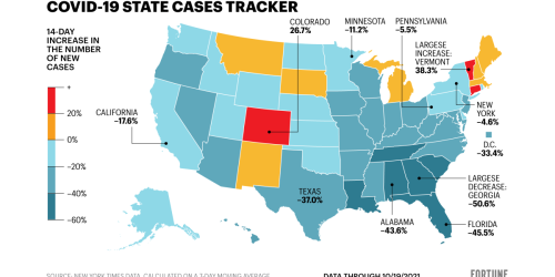 New U.S. COVID cases are down 22%. See how your state is doing