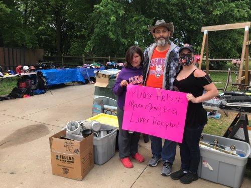 Owasso yard sale raising money for man's liver transplant