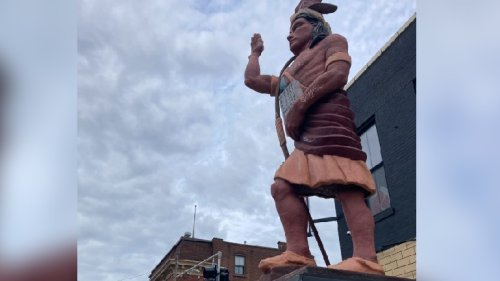 Indian statue removed from Cherokee Street