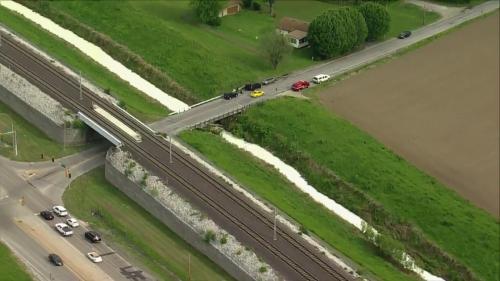 Creek in East St. Louis turns milky white; hazmat teams responding