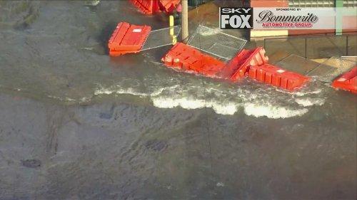Live Video: Water main break floods downtown St. Louis streets
