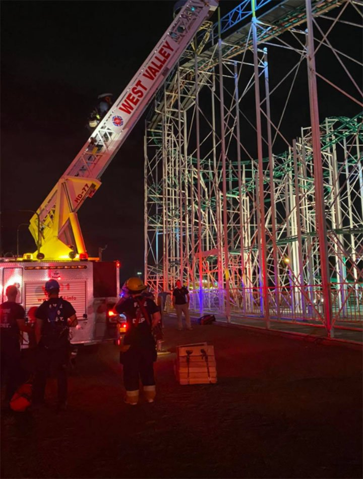 Teens trapped atop roller coaster for 2 hours rescued by firefighters