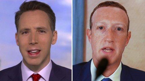 Hawley presses Zuckerberg on whistleblower complaint alleging Facebook coordination with Twitter, Google