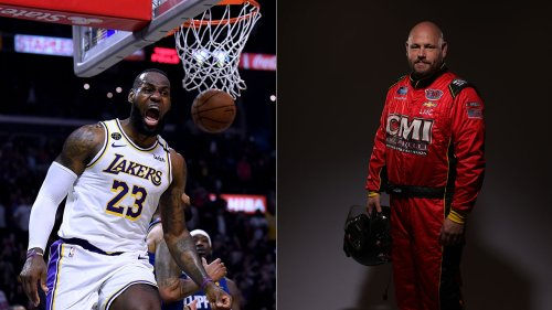 LeBron James dunks on NASCAR driver Ray Ciccarelli, who said he'd quit over Confederate flag ban