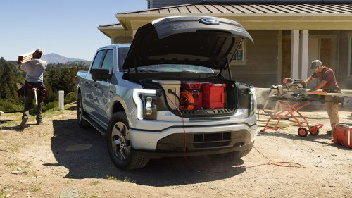 Electric Ford F-150 Lightning unveiled with 'frunk' and price under $40K