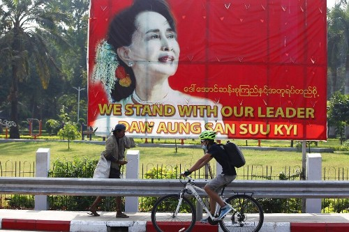 Myanmar's leader Aung San Suu Kyi and other officials arrested, party spokesman says