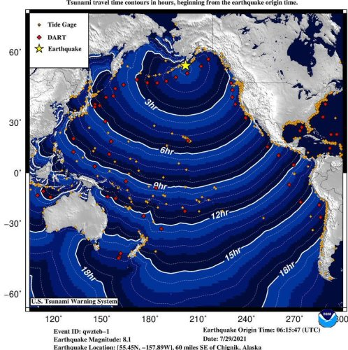 Earthquake recorded off Alaska, tsunami advisories lifted