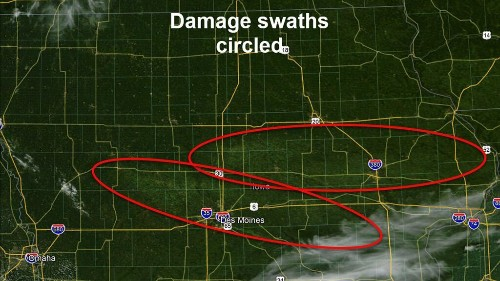 Derecho damage in Iowa, flattened crops spotted in 'impressive' satellite images