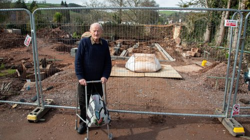 Homeowner unearths remains of lost 13th century palace under his garden