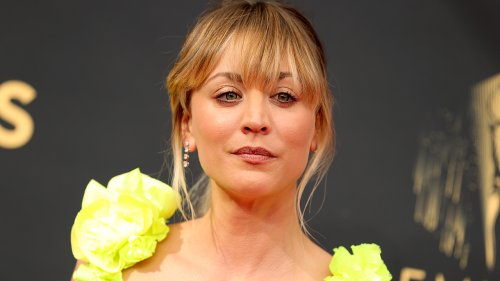 Emmy nominee Kaley Cuoco stuns on the red carpet in first appearance since Karl Cook split