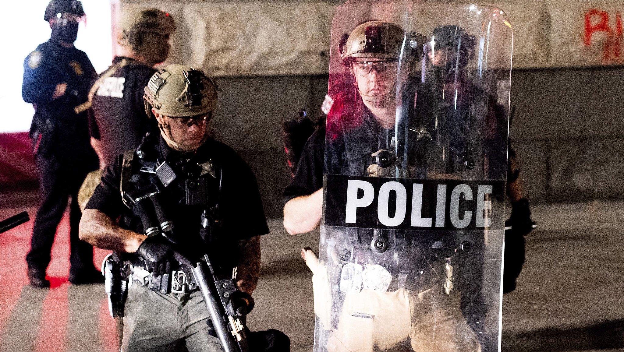 Rioters vandalize, set fire at Portland Police Association office: police