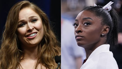 Ronda Rousey slams Simone Biles critics in scathing tweet: They don't 'know their foot from their a--hole'