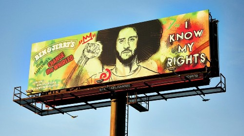 Colin Kaepernick billboards, mural go up ahead of Super Bowl LV