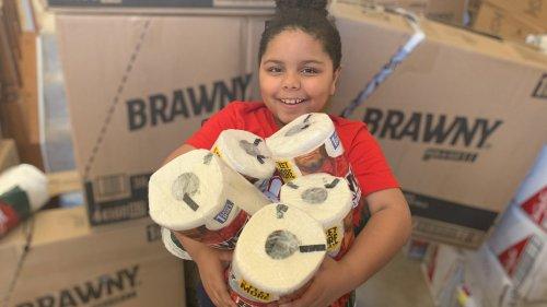 Boy, 7, creates a food pantry for community, receives praise from Sen. Kamala Harris