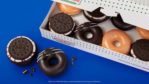Krispy Kreme unveils Oreo glazed and cookie doughnuts, plus 1 beverage
