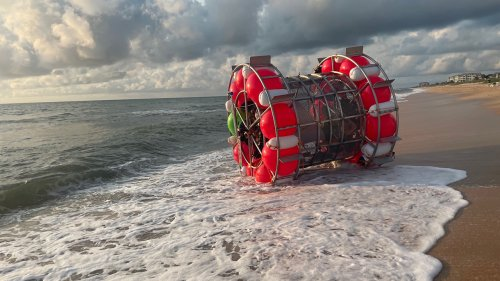 Florida man in bubble-like vessel washes up on beach, sheriff says