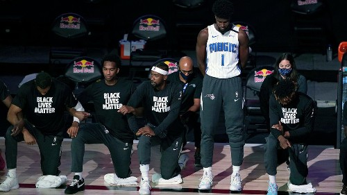 Trump takes NFL, NBA to task about kneeling during national anthem