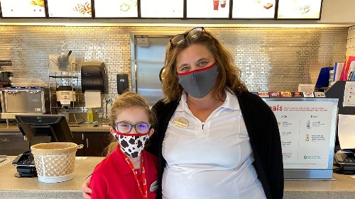 Florida girl wears Chick-fil-A uniform to 'heroes' day at school, becomes honorary employee