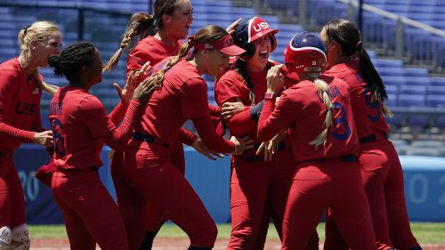 Team USA softball in Olympics gold medal game after epic walk-off against Australia
