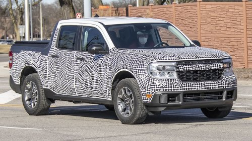 Here's the 2022 Ford Maverick compact pickup before you're supposed to see it