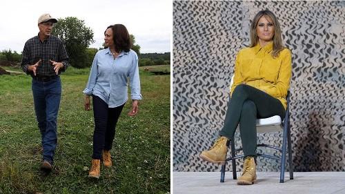 Media praises Kamala Harris' Timberland boots after trashing same look on Melania Trump