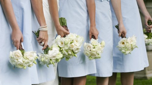 Bridesmaids prank bride by wearing Crocs after she banned the shoes