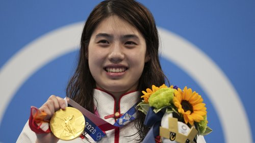 China's Zhang becomes a breakout star at Olympic pool
