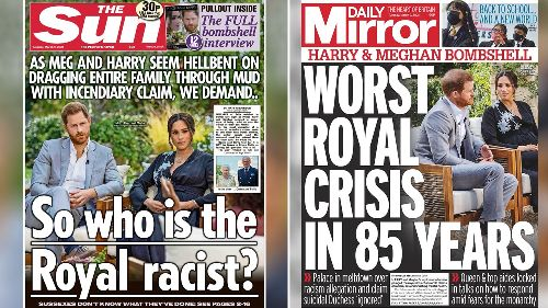 British tabloids hammer fiery fallout as Meghan, Harry send royal family into crisis mode