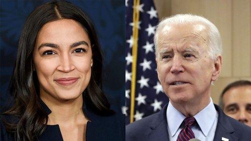 AOC responds after Biden says Green New Deal 'not my plan' during debate