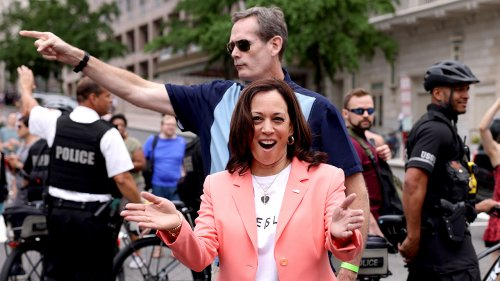 Kamala Harris' Secret Service agent 'clearly not happy' about VP's Pride walk: Twitter users react