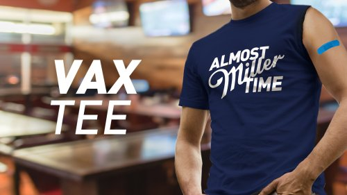 Miller Lite encourages COVID-19 vaccines with one-sleeved 'vax time' t-shirts