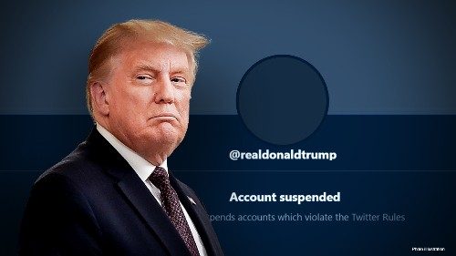 Twitter shares sink after Trump's account deleted