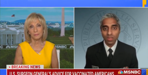 U.S. Surgeon General suggests vaccinated people wear masks outdoors as an 'extra step' to protect unvaccinated