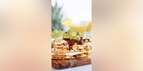 'Hawaiian BBQ Quesadillas with Pineapple-Mango Guacamole' perfectly combines sweet and spicy: Try the recipe