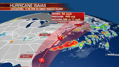 Hurricane Isaias: Some Florida counties, North Carolina, Virginia declare states of emergency as Southeast braces