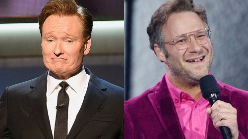 Conan O'Brien smokes pot on-air with Seth Rogen as late-night show comes to an end
