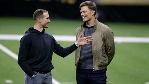 Drew Brees, Tom Brady share potential final moment on field after playoff game