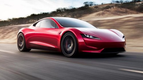 Rocket-powered 'flying' Tesla Roadster too quick for your health?