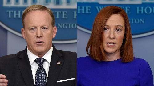 Tale of two briefings: Jen Psaki treated much differently by press than Sean Spicer