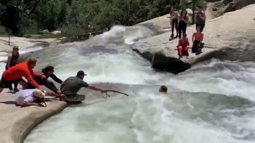 SEE IT: Off-duty California police officer rescues hiker trapped in whirlpool