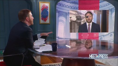Dan Crenshaw clashes with NBC's Chuck Todd on GOP drama: I'm not going to 'take the bait' from 'liberal' press