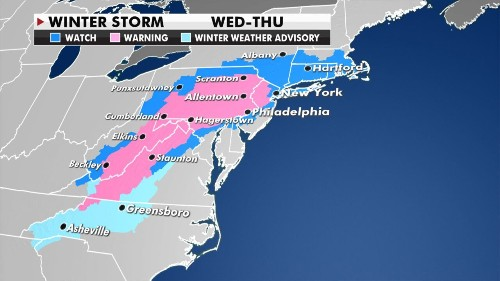Nor'easter expected to bring 'epic' snowfall this week