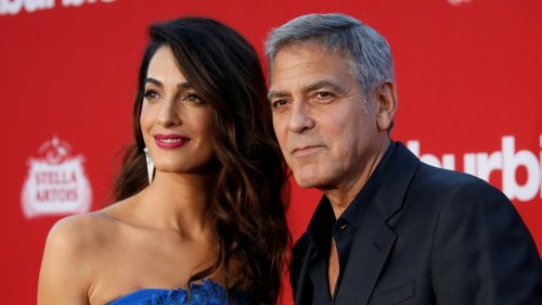 George and Amal Clooney return to Italy with twins: report
