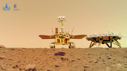 Photos show China's Mars rover on red planet