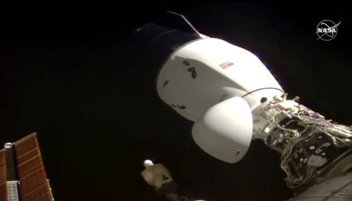SpaceX Dragon 2 cargo ship docks on International Space Station