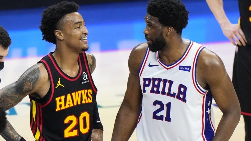 Hawks' John Collins trolls 76ers' Joel Embiid with T-shirt after Game 7 win