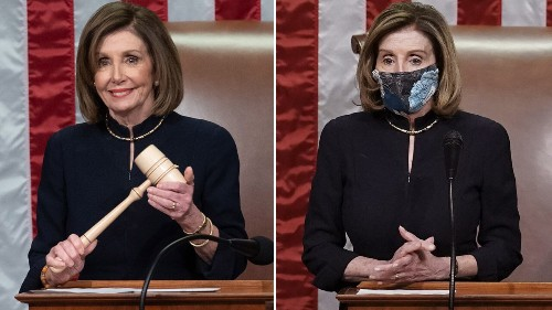 Nancy Pelosi wore the same dress for both impeachments