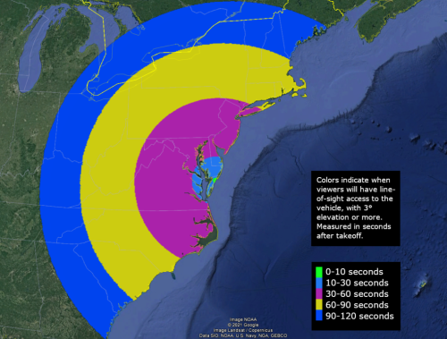 East Coast residents can catch rare glimpse of rocket launch