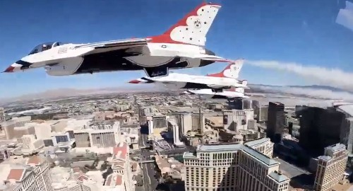 Thunderbirds honor coronavirus responders with Las Vegas flyover for 'true heroes'