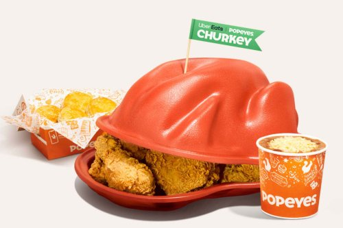 Popeyes and Uber delivering Thanksgiving 'Churkey' special